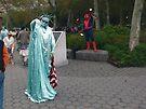 Two Ladies & One Spidey by Benedikt Amrhein