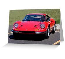 Ferrari Dino in Red Greeting Card