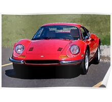 Ferrari Dino in Red Poster