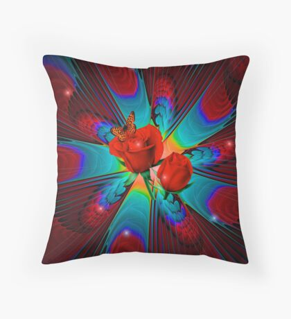 Sparkle of Roses Throw Pillow