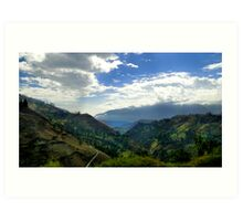 Endless Andes Valley Art Print
