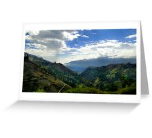 Endless Andes Valley Greeting Card