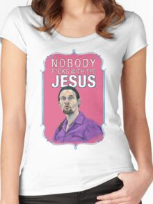 BIG LEBOWSKI-Jesus Quintana- Nobody F*cks with the Jesus Women's Fitted Scoop T-Shirt