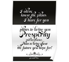 Plans for you - Jeremiah 29:11 Poster