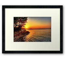 Sunrise Around the Bend Framed Print