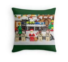 Santa and the Ghostbusters Throw Pillow