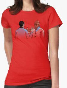 Vulcan Salute Womens Fitted T-Shirt