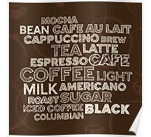 Coffee text Poster