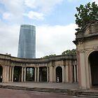 Bilbao park and tower Iberdrola by Lavanda