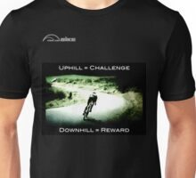 Cycling T Shirt - Uphill - Downhill Unisex T-Shirt