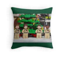 Ghostbuster Christmas Tree Throw Pillow