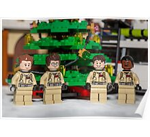 Ghostbuster Christmas Tree Poster