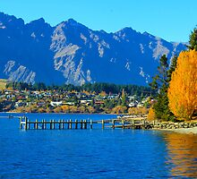 Amazing Queenstown in Autumn, New Zealand, NZ by yolan