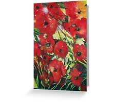 Contemporary poppies Greeting Card