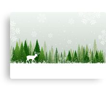 Winter forest scene Canvas Print