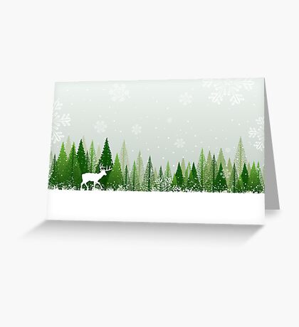 Winter forest scene Greeting Card