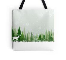 Winter forest scene Tote Bag
