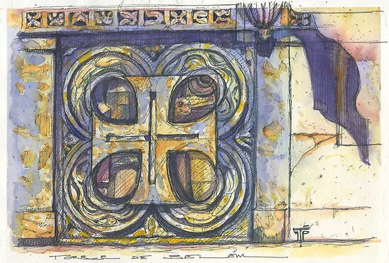 templar cross at Belém tower. Lisbon by terezadelpilar~ art & architecture