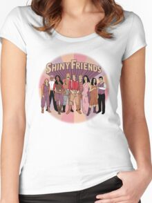 Shiny Friends Women's Fitted Scoop T-Shirt