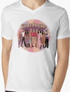 Shiny Friends Mens V-Neck T-Shirt