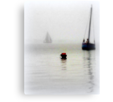 The Little Red Buoy Canvas Print