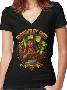 BROWNCOATS UNITE Women's Fitted V-Neck T-Shirt