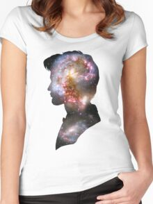 11th doctor galaxy design Women's Fitted Scoop T-Shirt