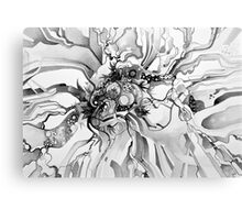 Sub-Atomic Stress Release Therapy - Watercolor Painting - Black and White Canvas Print