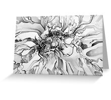 Sub-Atomic Stress Release Therapy - Watercolor Painting - Black and White Greeting Card