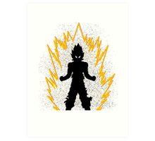Super Saiyan silhouette Art Print