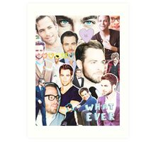 chris pine collage Art Print