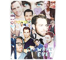 chris pine collage Poster