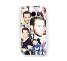 chris pine collage Samsung Galaxy Case/Skin