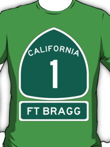 PCH - CA Highway 1 - Ft Bragg  T-Shirt