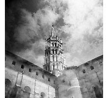 Les nuages et la basilique Photographic Print
