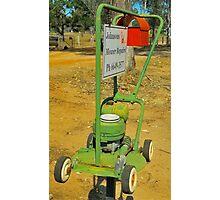 Lawnmower Mailbox Photographic Print