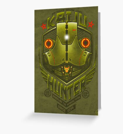 Kaiju Hunter Cherno Greeting Card