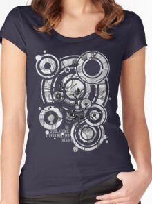 Sub-Atomic Stress Release Therapy - Watercolor Painting - Black and White Women's Fitted Scoop T-Shirt