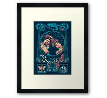 Breaking Nouveau Framed Print