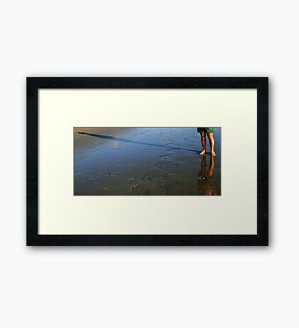Shadow Play 4 with a Reflection Framed Print