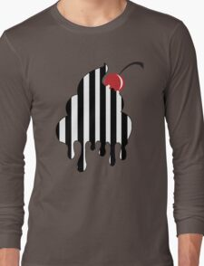 Stripes Cupcake Long Sleeve T-Shirt