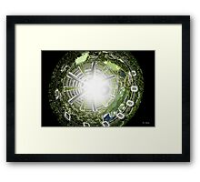 Kalpana space station section Framed Print