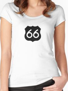 Route 66 Ideology Women's Fitted Scoop T-Shirt