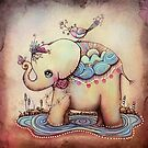 Little Diana the Vintage Elephant Princess by © Karin Taylor