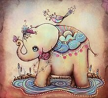 Little Diana the Vintage Elephant Princess by © Cassidy (Karin) Taylor