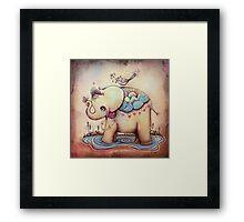 Little Diana the Vintage Elephant Princess Framed Print