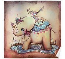 Little Diana the Vintage Elephant Princess Poster