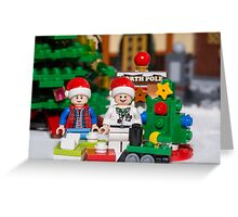 Doc and Marty North Pole Greeting Card