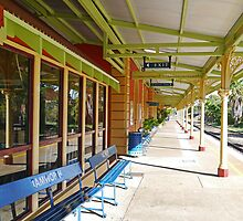 Platform, Railway Station, Tamworth, NSW, Australia by Margaret  Hyde