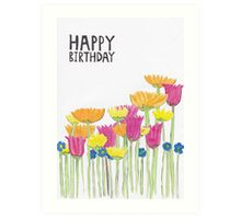 Flower Birthday Art Print